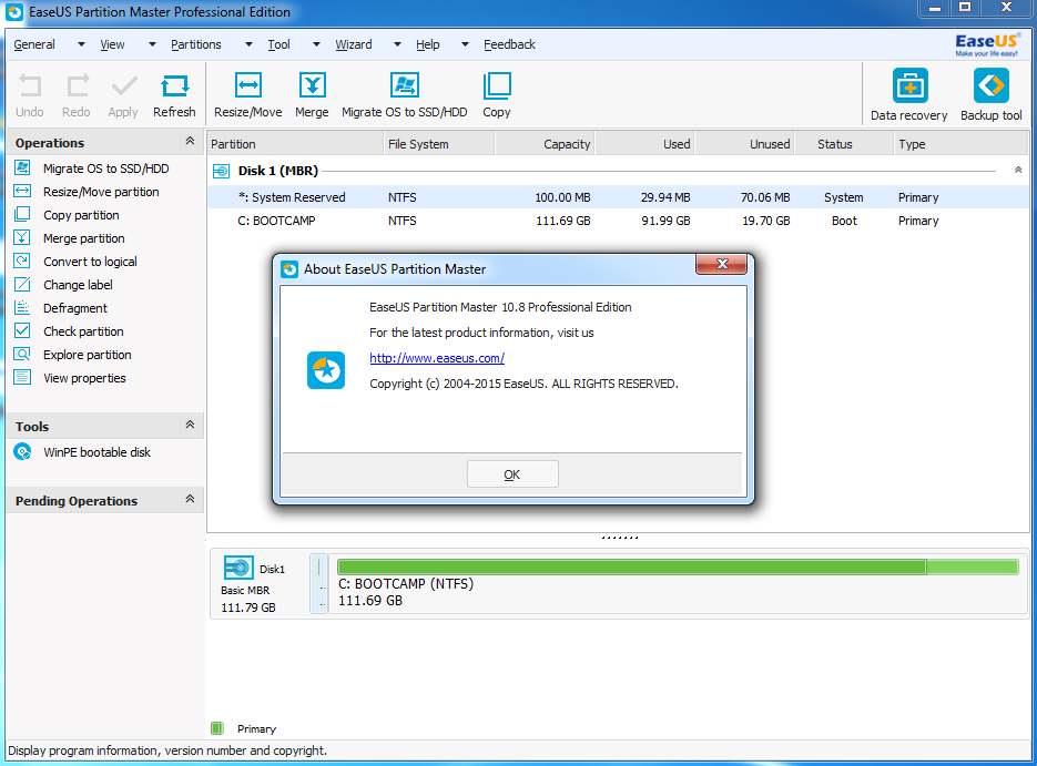 EASEUS Partition Master 15.0 Technician with Crack